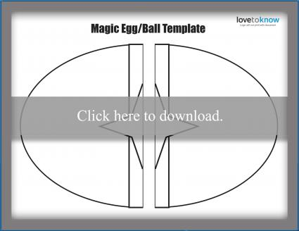 Magic egg/ball puppet template