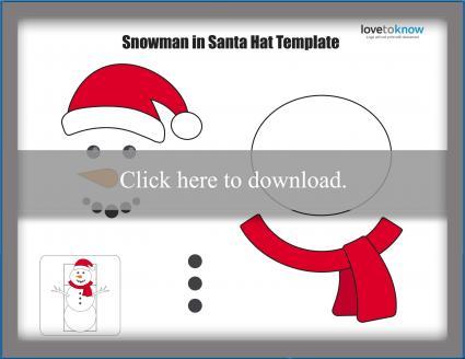 Snowman Santa puppet template