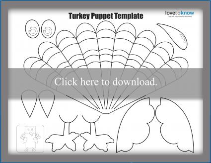 turkey puppet template