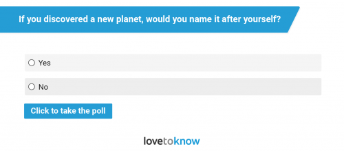 Would You Name a Planet After Yourself?