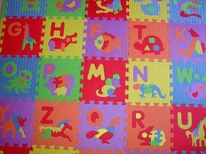 Child's alphabet floor mat puzzle