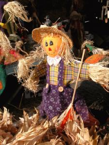 Image of a stuffed scarecrow for a Halloween game
