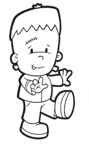 frankenstien coloring pages - photo#12