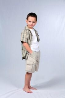 Full-length shot of a boy modeling clothes
