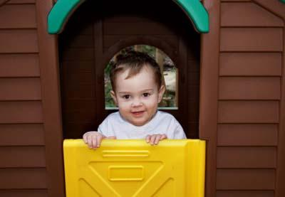 A playhouse makes a great gift for a young child.