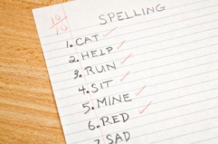 A spelling test with a perfect score