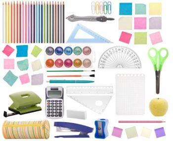 All kinds of cool, colorful school supplies