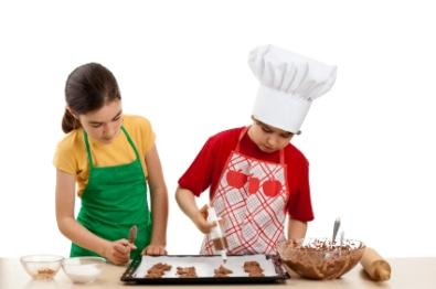 Kids love to help in the kitchen.