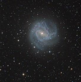 Image of Messier 83, a barred spiral galaxy