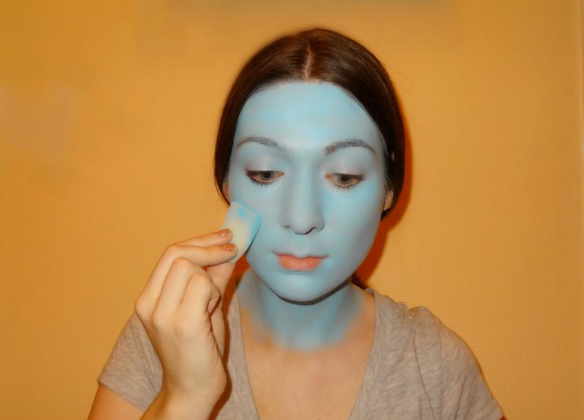 nightmare before christmas 213 sally full makeup source primer source blue face base - Sally From Nightmare Before Christmas Makeup