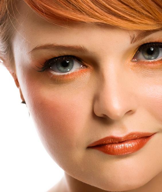bright orange eye shadow