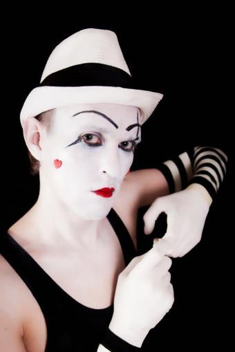 Mime Face Makeup Picture Ideas