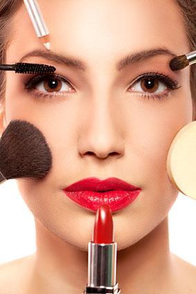 Beautiful woman wearing makeup