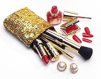Guerlain cosmetics, artificial nails and make-up