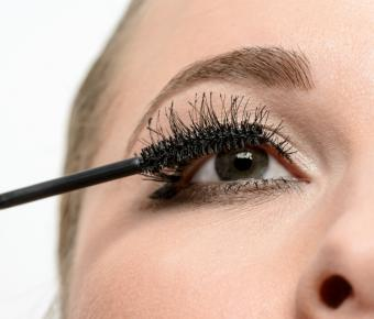 mascara applied with traditional brush