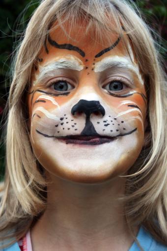 Tabby cat face paint