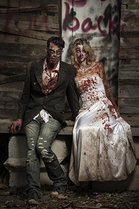 bloody zombie makeup