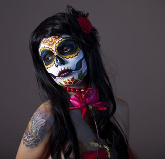 skeleton special effects face paint makeup