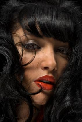 Red Lipstick African-American Woman