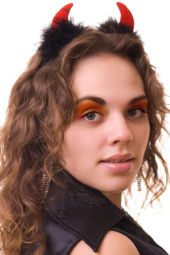 Devil eye makeup