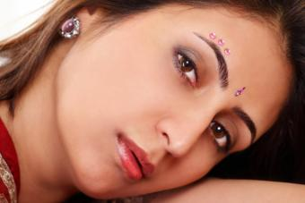 Woman with bindis