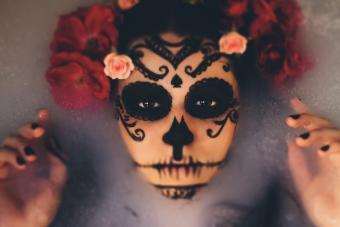 Halloween sugar skull make-up