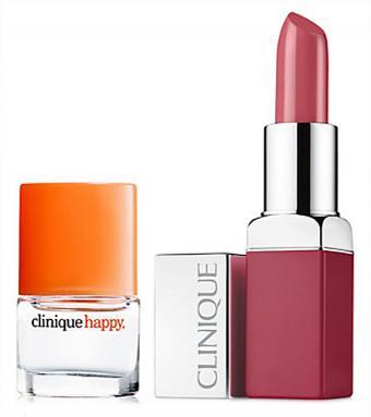 Clinique Pop Lip Color & Primer in Plum Pop & Happy Mini Spray
