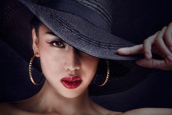 woman wearing makeup in cool tones