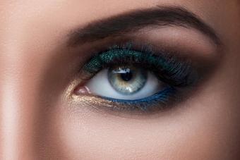 Close up of female eye with beautiful make-up