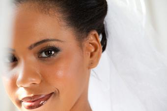 portrait of bride's face