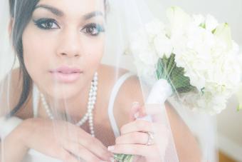Bride in under veil