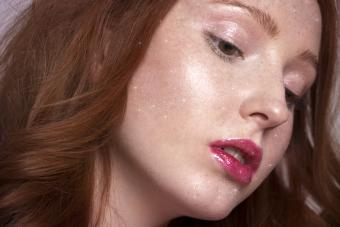Young girl with subtle glitzy makeup
