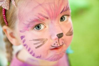 Cartoon cat face paint