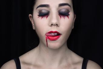 Woman Wearing Halloween Make-Up