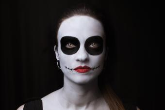 Woman Wearing Face Paint