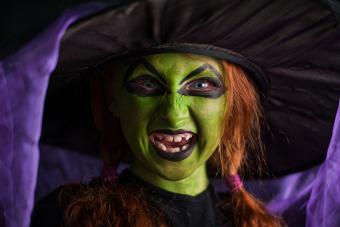 girl with witch makeup
