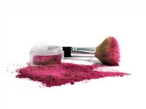 kabuki brush with mineral makeup
