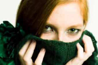 hiding face