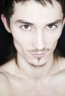 Man with chiseled cheekbones.
