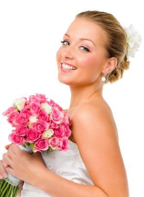 Bride in photo