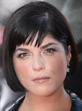 selma blair in pastel eye shadow