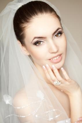 beautiful blushing bride