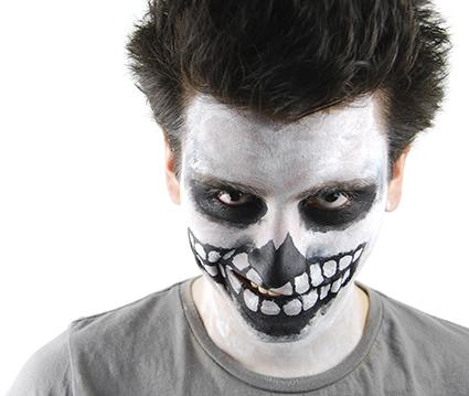 How to apply basic horror face makeup lovetoknow for How to apply face paint