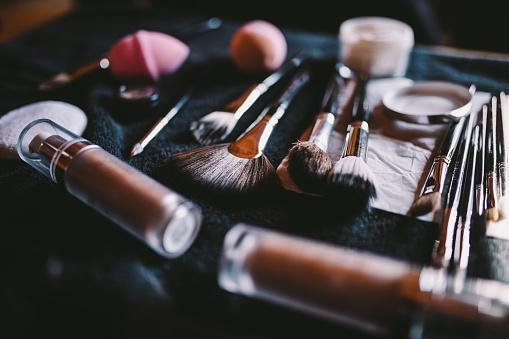 Makeup Items On Table