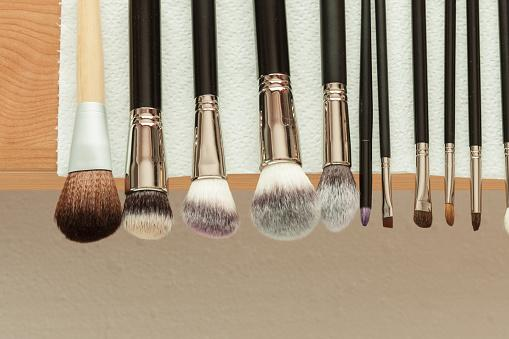 professional make up brushes drying