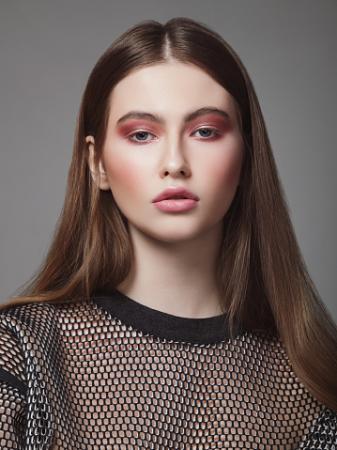 woman wearing blush makeup