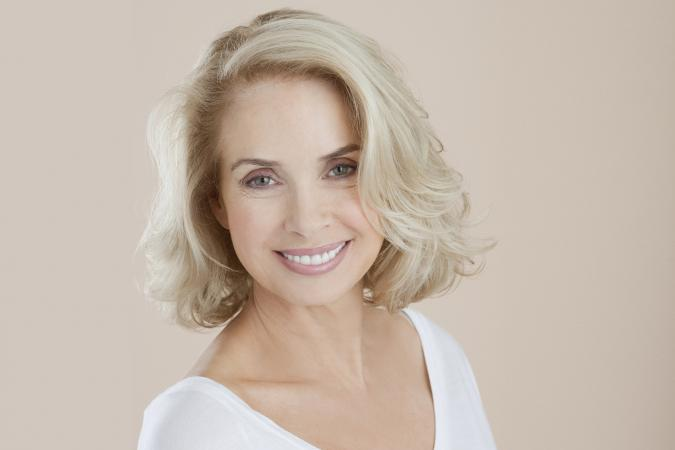 Foundation makeup for older women