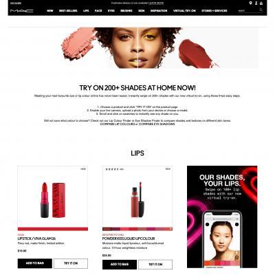 Mac cosmetics virtual-try-on