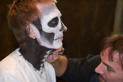 applying special effects makeup