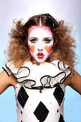 Harlequin clown makeup